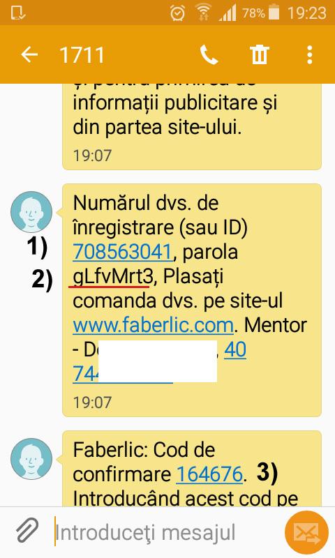 Activare cont Faberlic