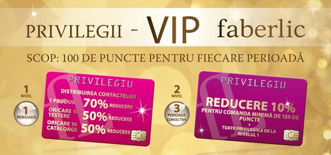 Privilegii VIP Faberlic
