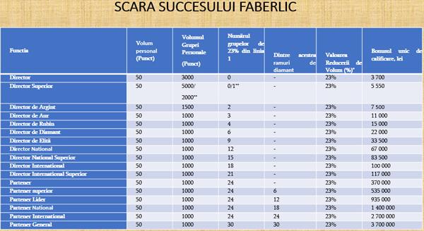 Scara succesului Faberlic România