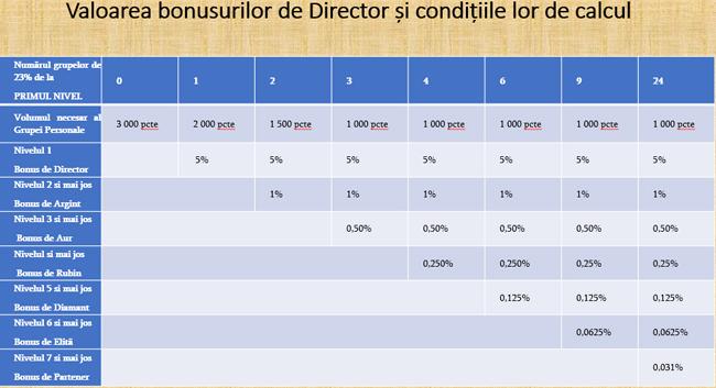 Bonusuri directori Faberlic