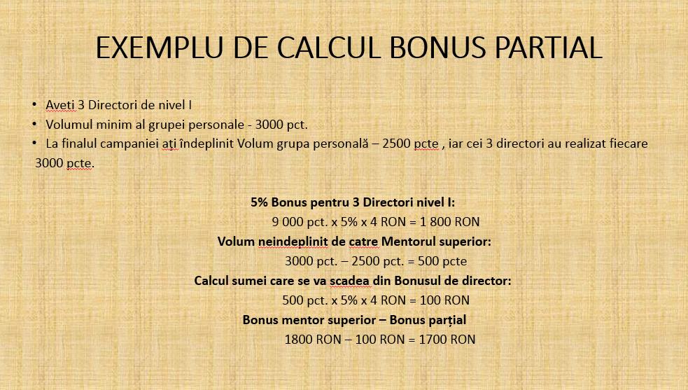 Calcul bonus Faberlic