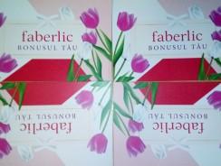 Utilizare card BONUSUL TĂU Faberlic
